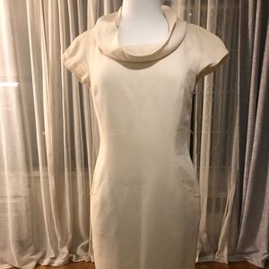 Lafayette 148 ivory wool dress